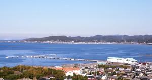 城山から見た館山湾