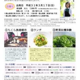 館山発着 3月17日出発日帰り『野菜ソムリエと極める南房総・食の旅』